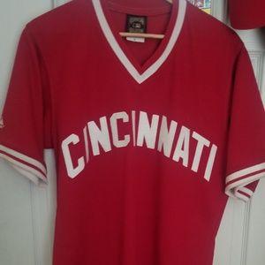 Cincinnati Reds Cooperstown Throwback Jersey